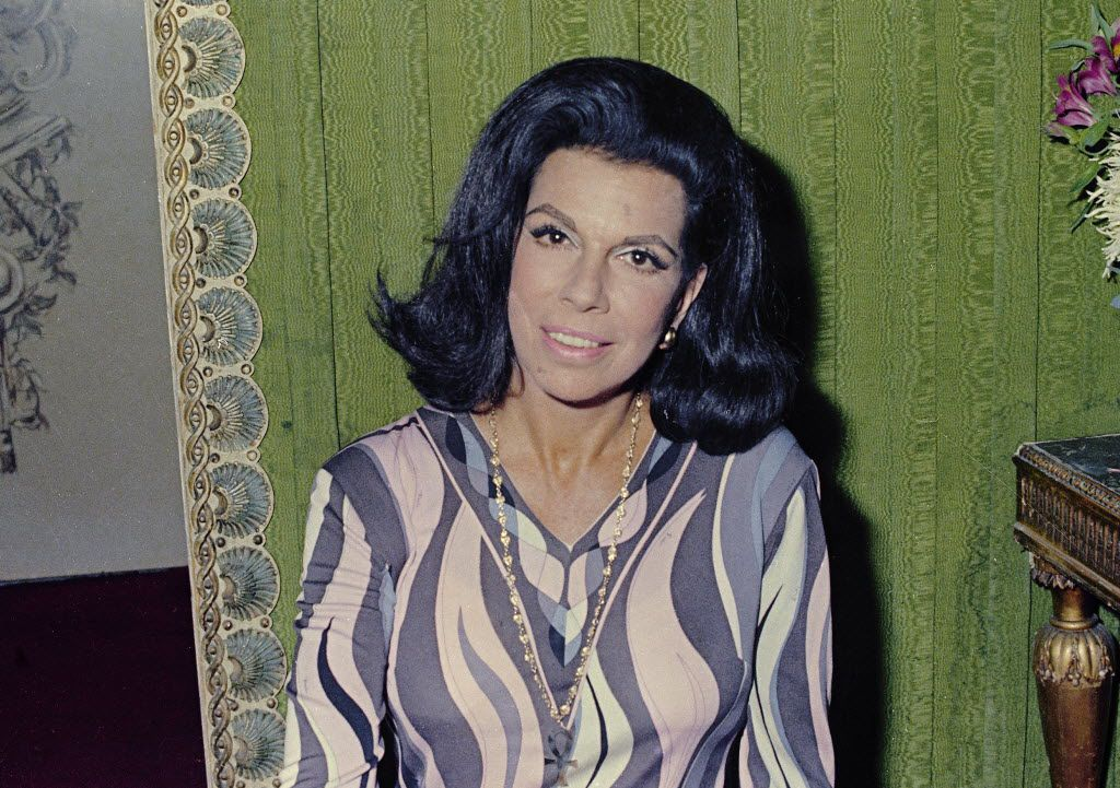 Author Jacqueline Susann is seen in 1969