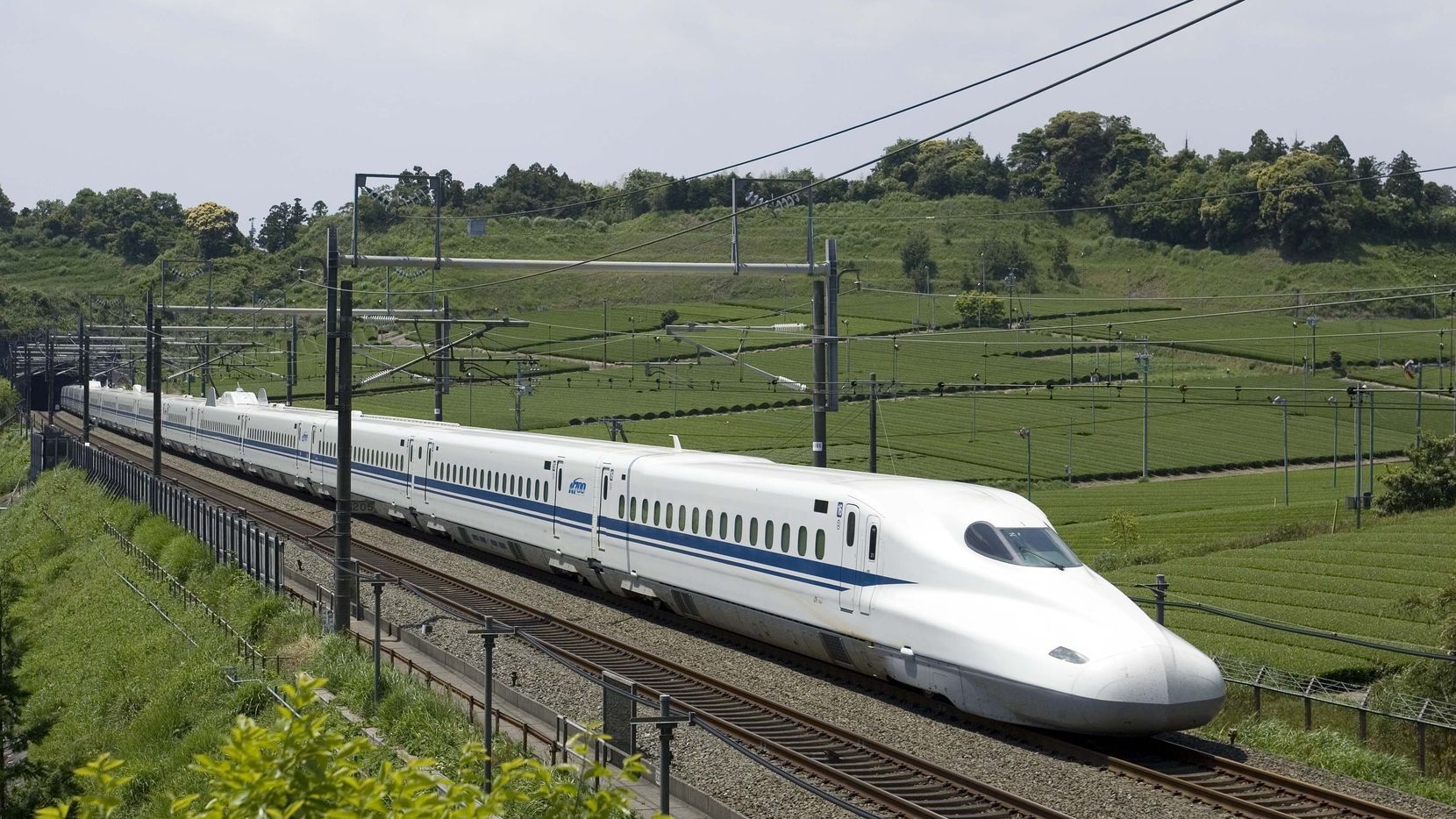 The high-speed train Texas Central proposes operating between Houston and Dallas would be similar to this N700 bullet train that runs from Tokyo to Osaka.   Note: attribution needs this language:  Photos of the N700 used under permission of JR Central .