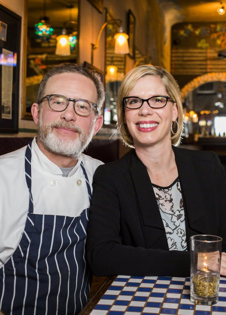 The Grape restaurant owners Brian and Courtney Luscher on Wednesday, February 4, 2015.