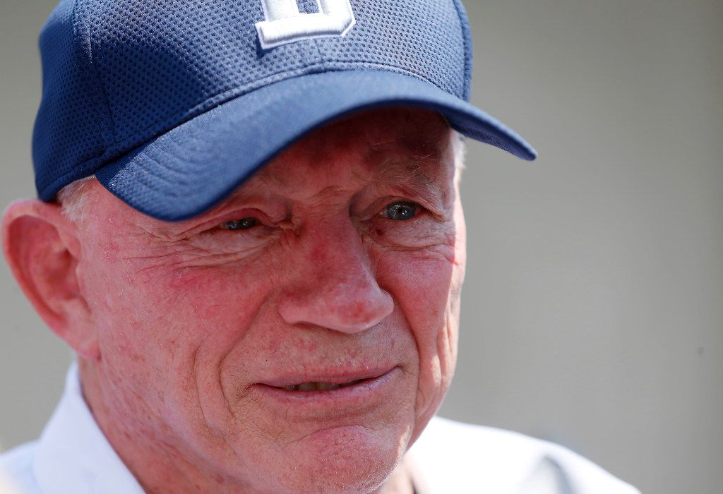 Cowboys owner Jerry Jones answers questions during a press conferences at the training camp in Oxnard, Calif., Wednesday, July 25, 2018. (Jae S. Lee/The Dallas Morning News)