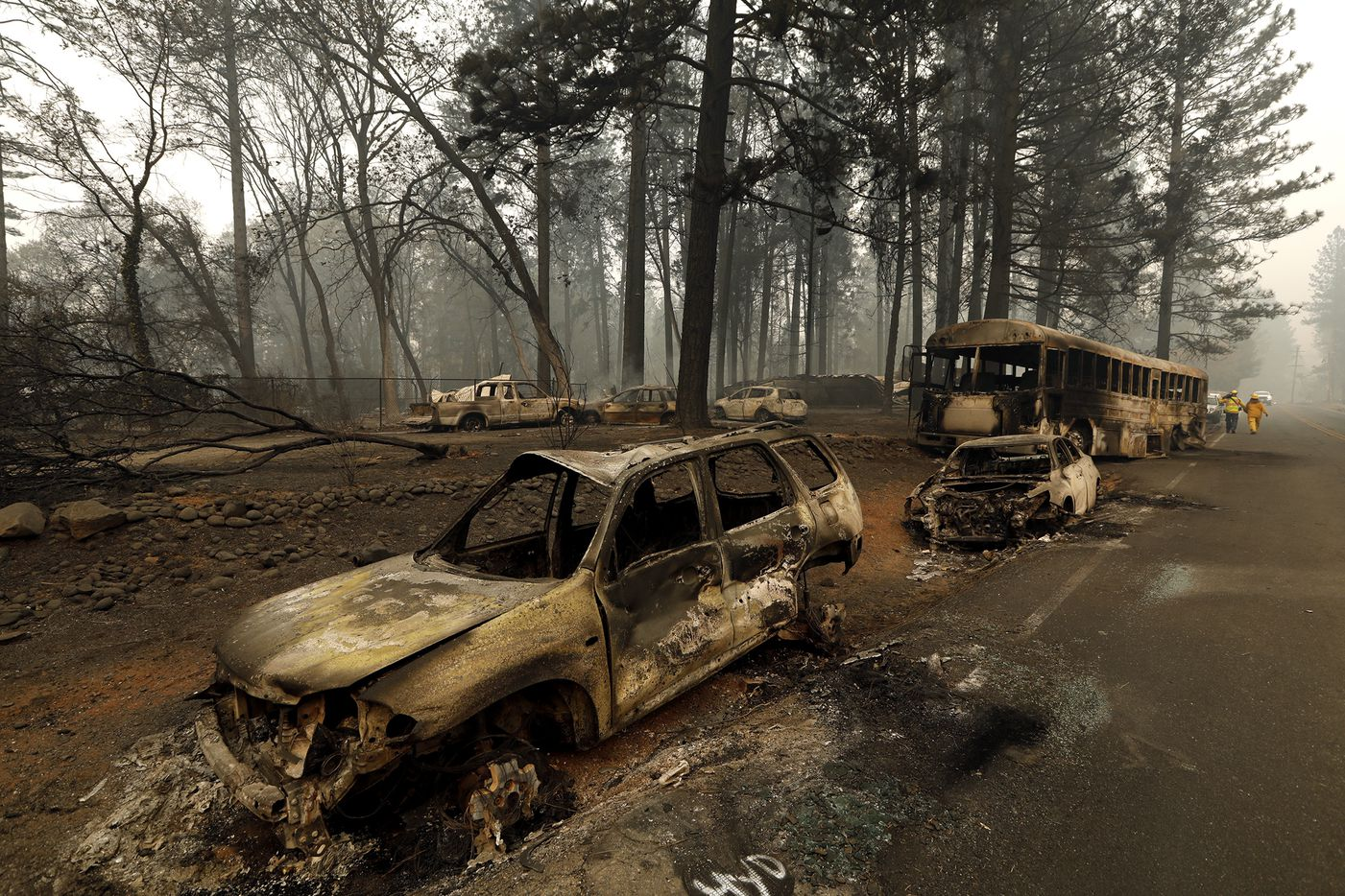 The town of Paradise, Calif., is mostly a ghostown after the explosive Camp Fire burned through Butte County, on Nov. 10, 2018.