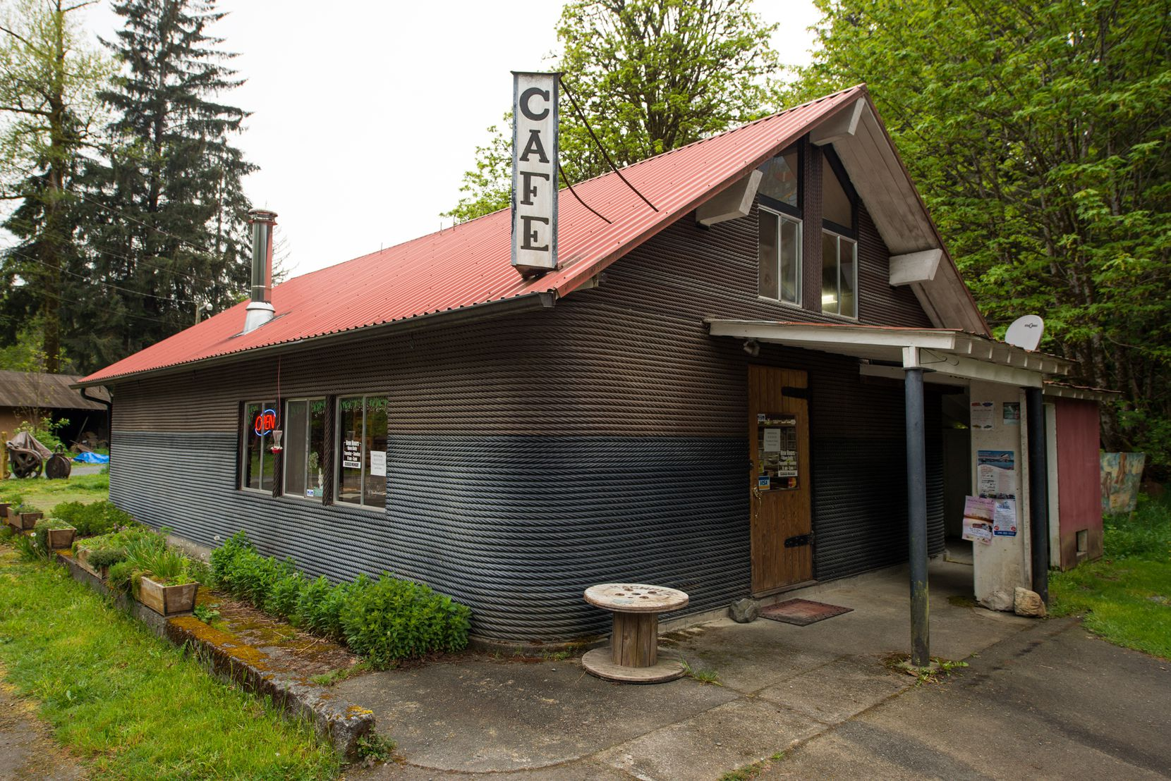 The landmark Cable Cookhouse Cafe in Sayward, northern Vancouver Island.