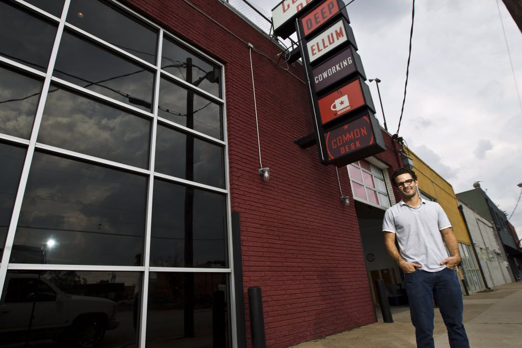 Nick Clark, founder of 'Common Desk,' poses for a portrait outside his business in Deep Ellum, Friday, September 28, 2012. (BRANDON WADE/Special Contributor)