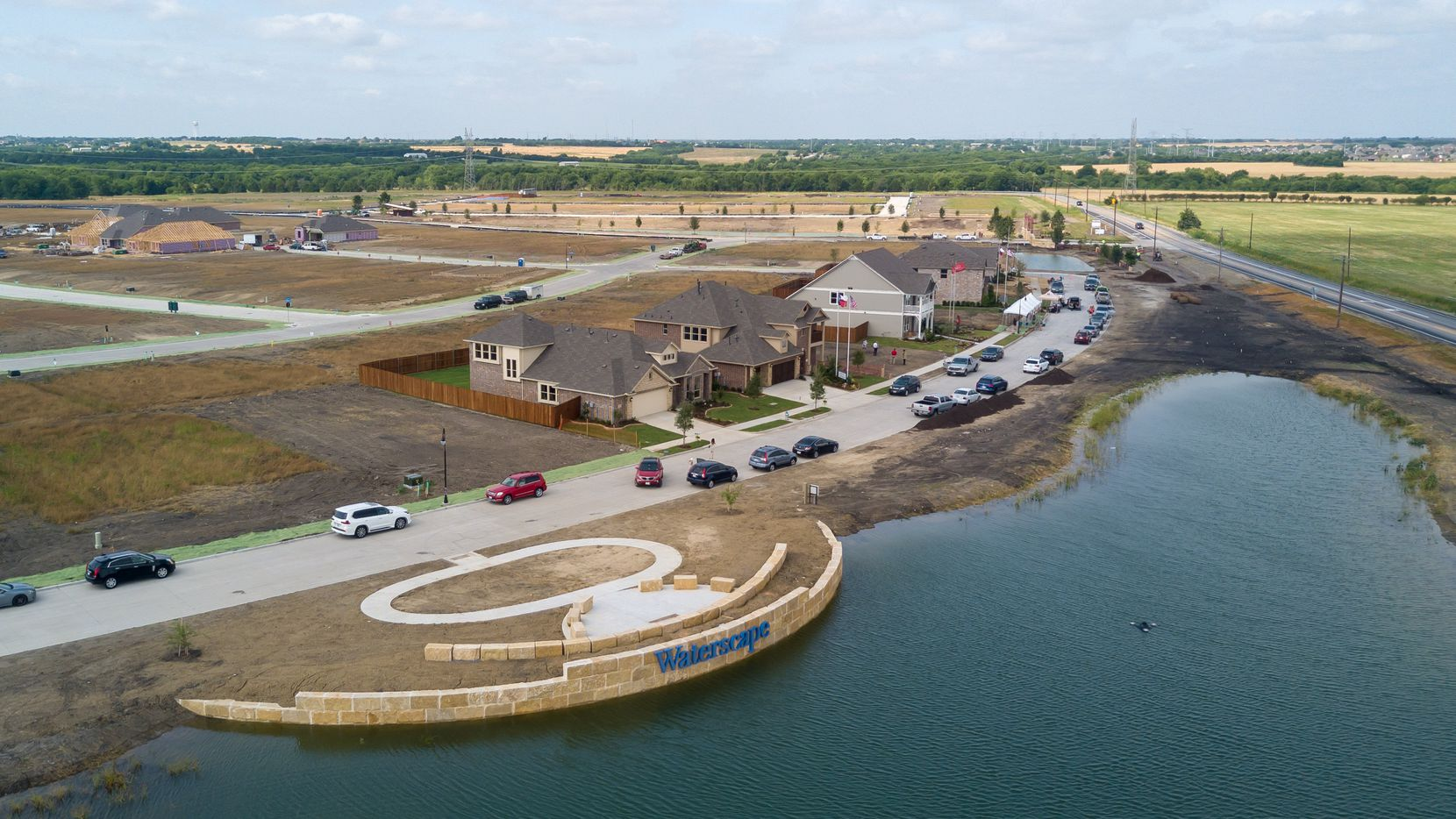 The first phase of 275 houses is under development in the Waterscape community in Royce City.