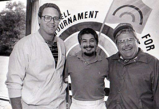 ORG XMIT: *S0422880661* May 28, 1987 - Frank Roby, Mariano Martinez and Skip Fletcher (from left) are shown in this Fete Set photo.