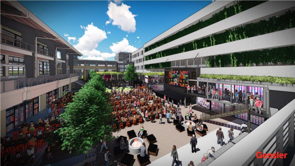 A rendering of Legacy Food Hall, set to open in 2017 in Plano's Legacy West development. It will include 55,000 square feet of space for artisan foods, craft beer and concerts.