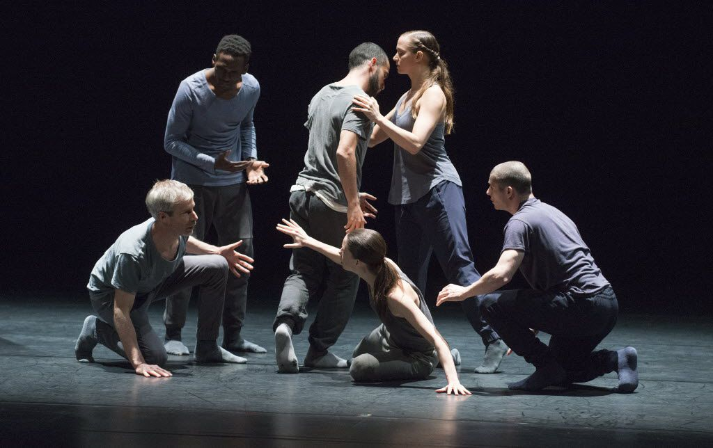Members of the Kidd Pivot dance company rehearsed €œBetroffenheit € at the Dallas City Performance Hall in April. (Robert W. Hart/Special Contributor)
