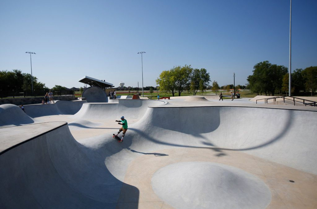 Frisco's first skate park opened in August 2017.