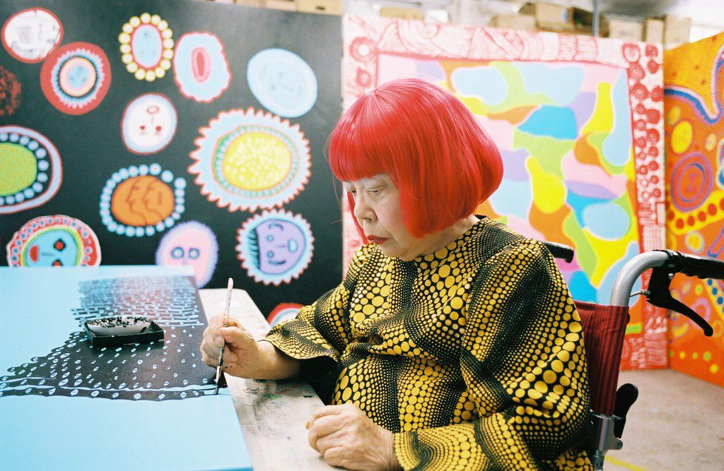 Yayoi Kusama, at a new museum in Tokyo bearing her name, Sept. 26, 2017