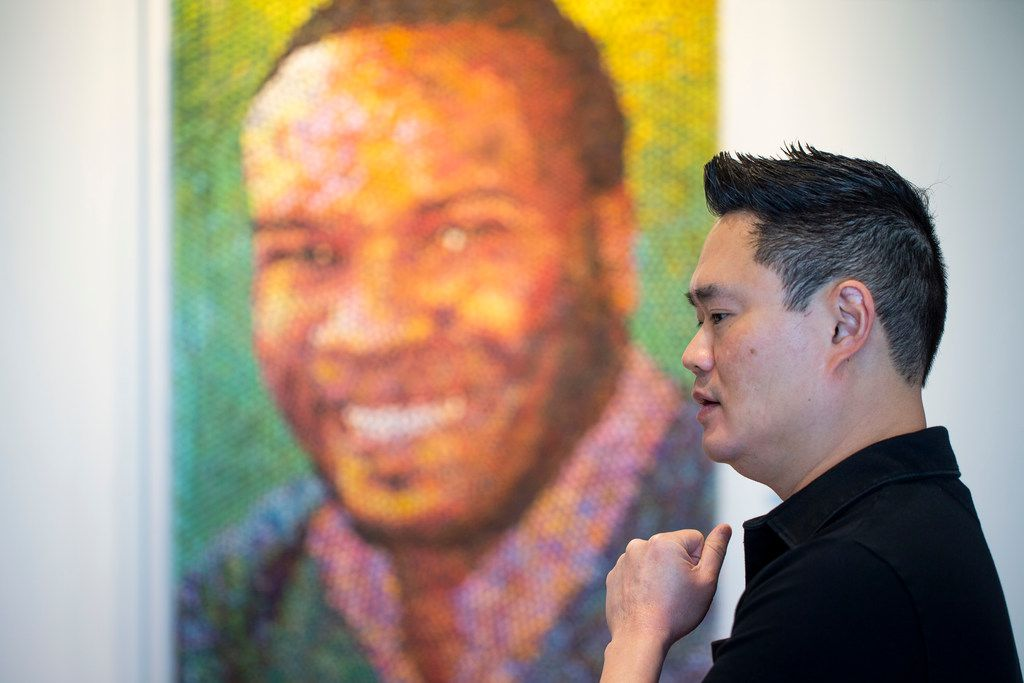 Arlington artist Norman Lee drew inspiration for the portrait from conversations with family and coworkers.