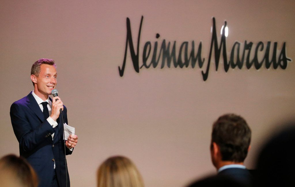 """Neiman Marcus CEO Geoffroy van Raemdonck spoke during a VIP party for the art exhibit """"Dior: From Paris to the World"""" at the Dallas Museum of Art in Dallas on May 14."""