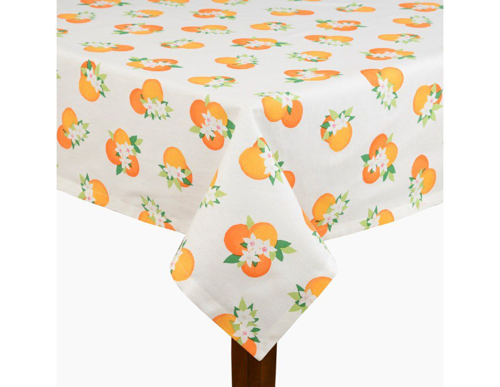 Orange Blossom table linens, start at $8, katespade.com