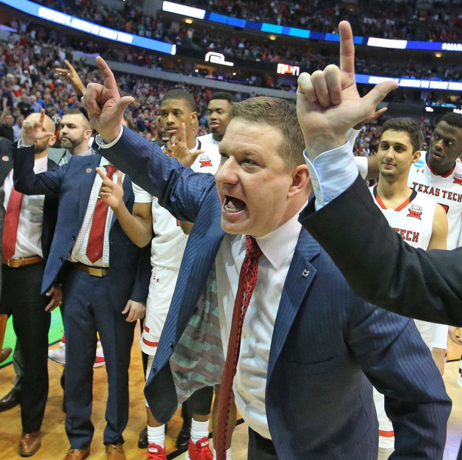 Texas Tech head coach Chris beard is pictured after the Red Raiders' 70=60 win over the SFA Lumberjacks during NCAA Tournament first round mens basketball games held at the American Airlines Center in Dallas on Thursday, March 15, 2018. (Louis DeLuca/The Dallas Morning News)