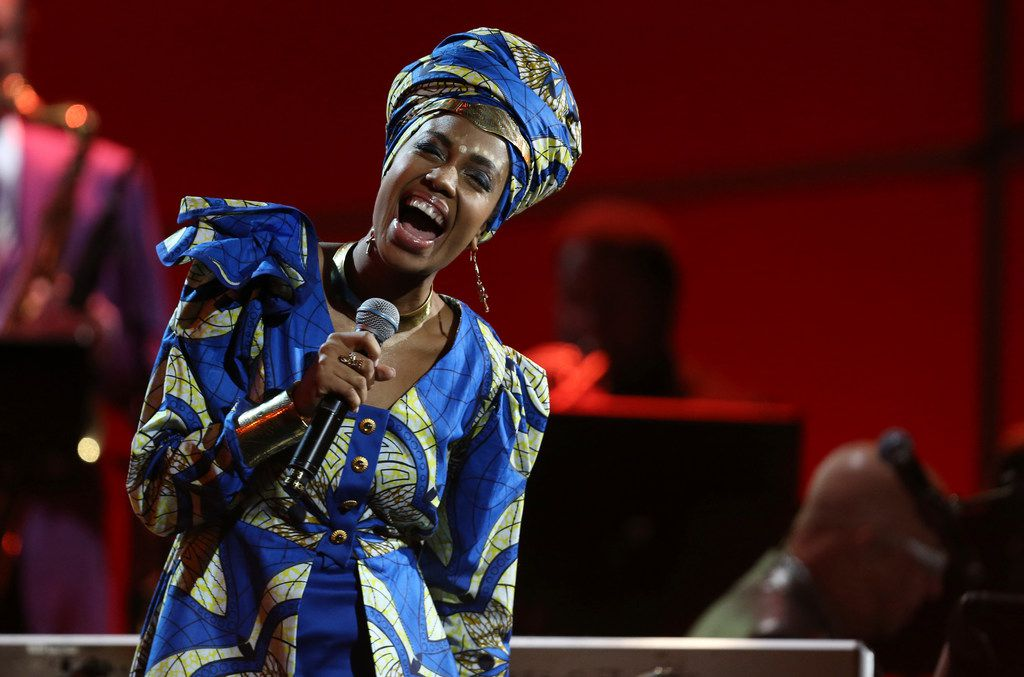 Jazzmeia Horn performs at the 60th annual Grammy Awards at Madison Square Garden on Jan. 28, 2018, in New York. (Photo by Matt Sayles/Invision/AP)