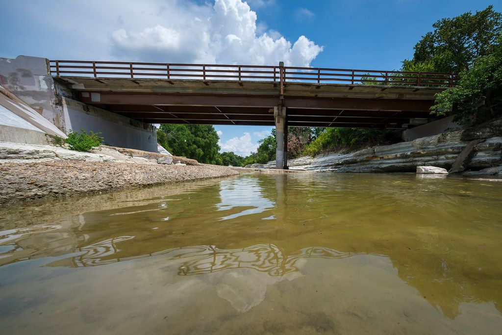This bridge on  Briarwood Drive, which crosses over Duck Creek in Garland, is the focus of a bridge safety research project.
