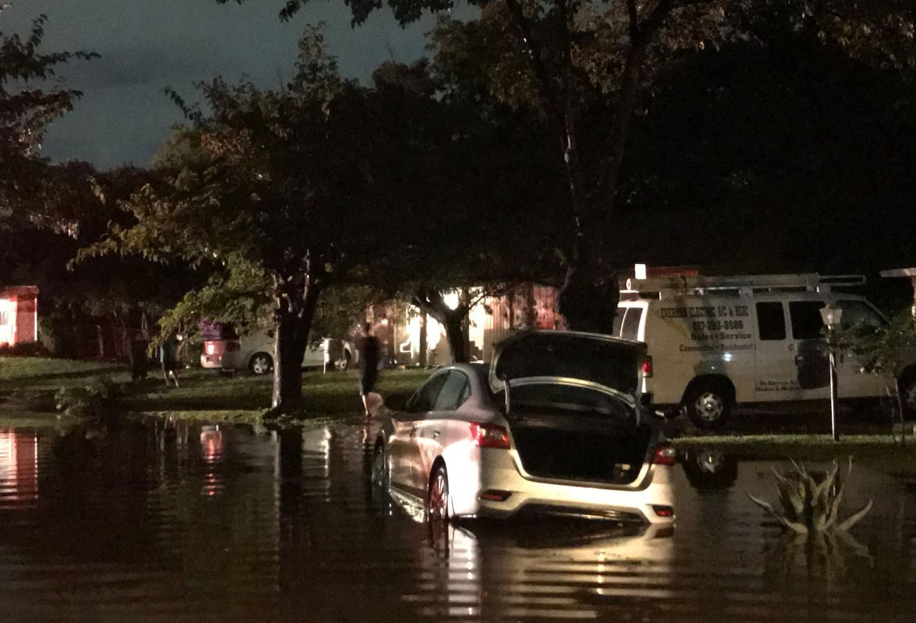 Residents of Everman, south of Fort Worth, had to seek higher ground in a hurry after the town was flooded overnight.