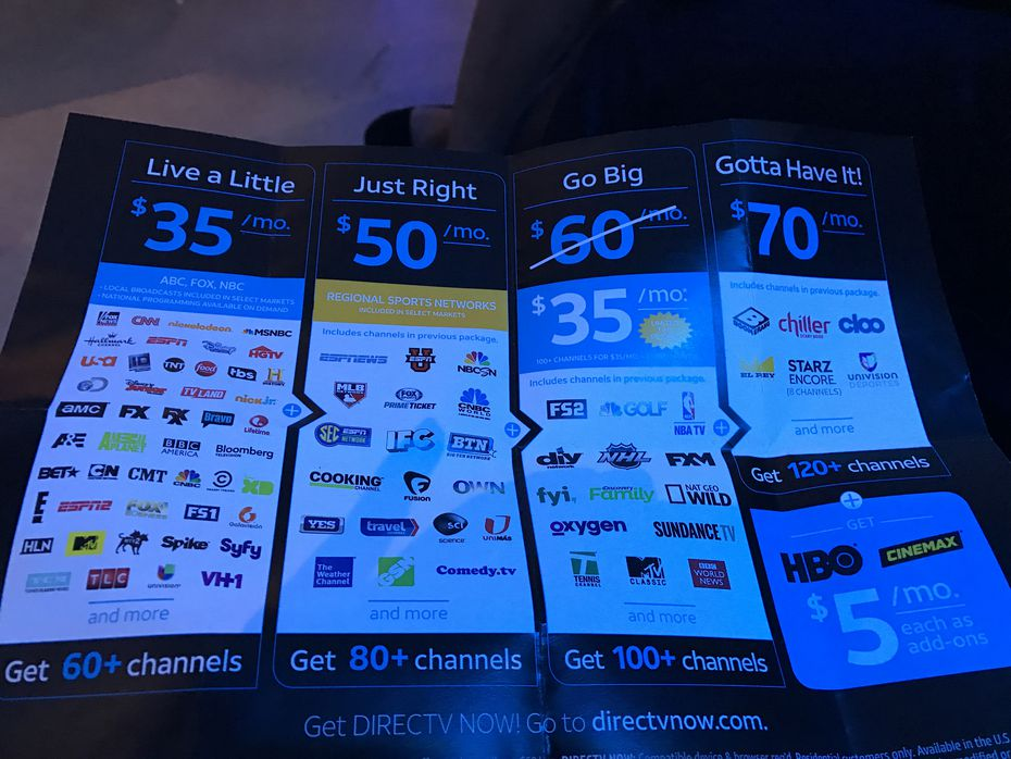 With launch of online streaming service DirecTV Now, AT&T