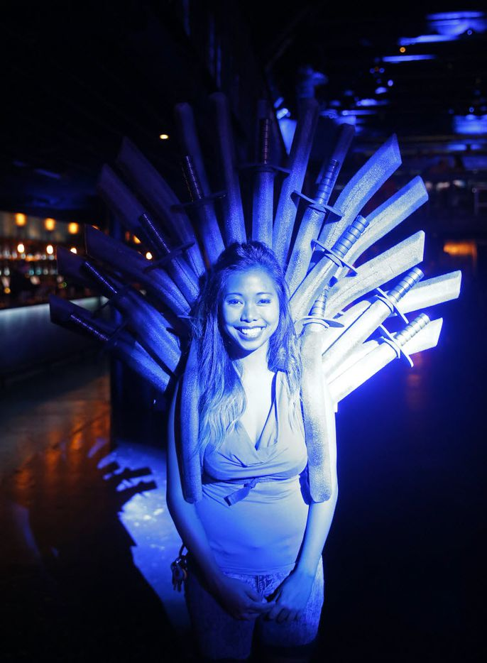 Tiya Nguyen wears an Iron Throne costume at The Bomb Factory in Dallas, Saturday, Aug. 13, 2016. (Jae S. Lee/The Dallas Morning News)
