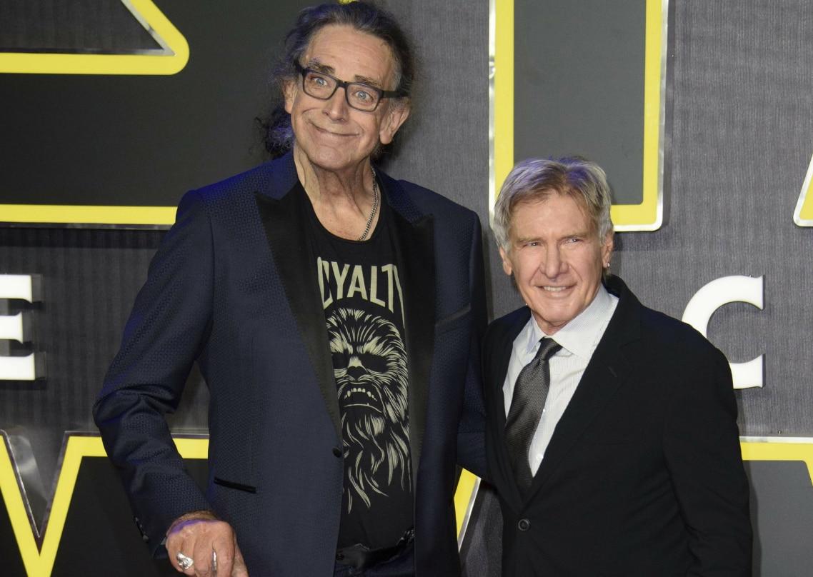 Junto a Harrison Ford. Foto archivo AP