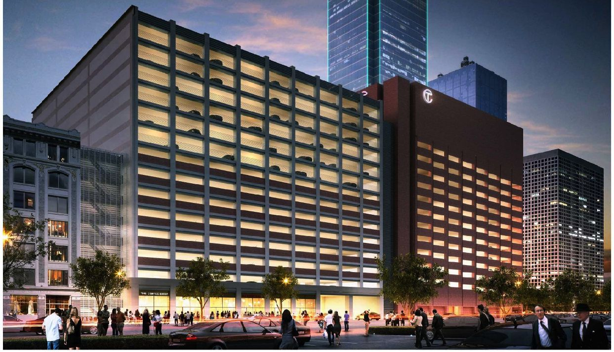 Owners of the 72-story Bank of America Plaza in downtown Dallas want to build a 15-story, 1500-car parking garage on Main Street.