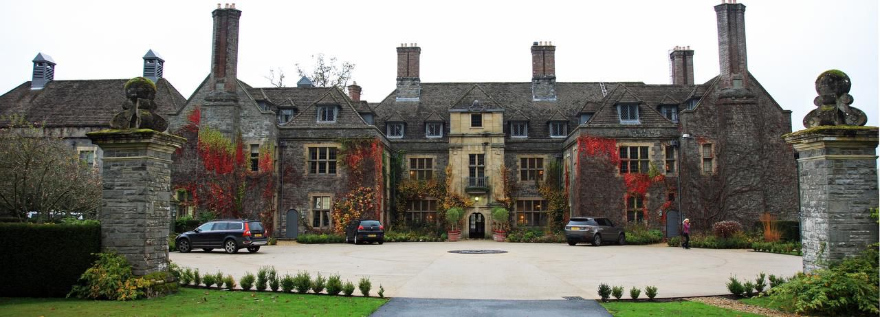 Llangoed Hall, a country manor once owned by famed designer Laura Ashley and her husband, is now a luxury hotel run by Calum C. Milne, the great-grandson of Winnie the Pooh author A.A. Milne.