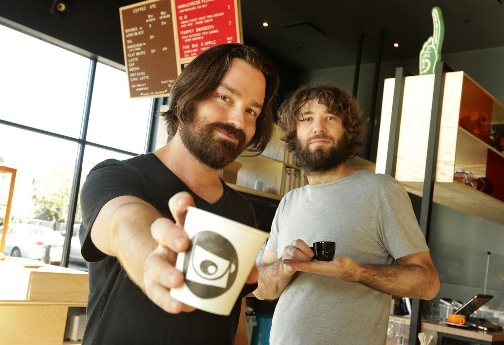 Mark Lowes (left) and Adam Lowes are owners of LDU Coffee, a new Australian coffee shop on Fitzhugh in Dallas.