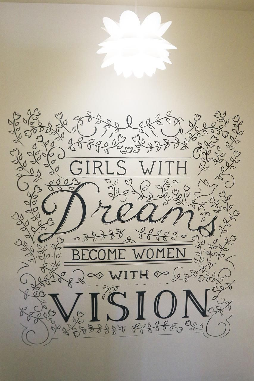 A mural on the wall offers encouraging words for women living at the Ebby House.
