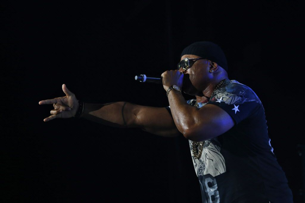 LL Cool J performs during the Kings Of The Mic concert at Gexa Energy Pavilion in Dallas Friday, June 26, 2015.