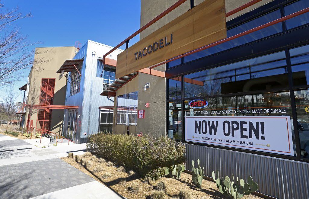 An exterior shot of Tacodeli in Sylvan Thirty in Dallas, Wednesday, Jan. 27, 2016. (Jae S. Lee/The Dallas Morning News)