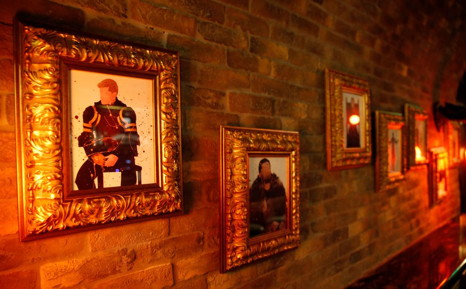 Artwork adorns the walls for the new Game of Thrones theme at the Ill Minster Pub in Dallas