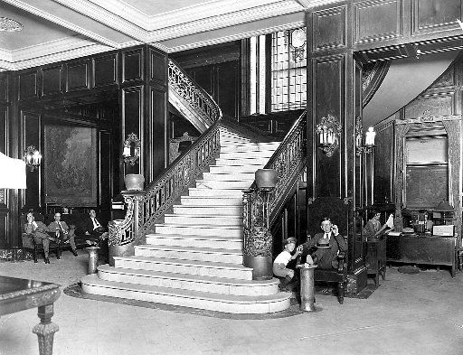Just for fun -- and because we don't yet have photos of the interior of City Hall Bistro -- here's a historical photo of the Adolphus hotel in 1929.
