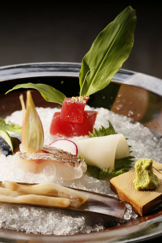 The plates are nearly perfect at fine dining Japanese restaurant Tei-An, chef Tesar says.