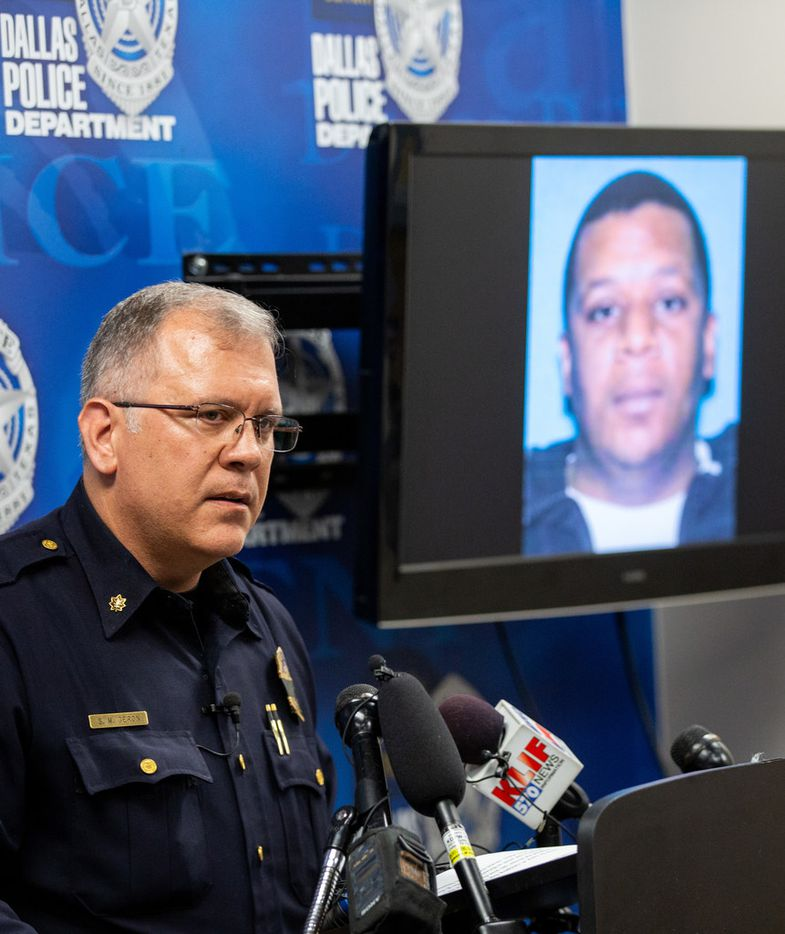 Maj. Max Geron announces the arrest of Kendrell Lavar Lyles in the slayings of Muhlaysia Booker and two other victims. Police say the other two victims were not transgender.