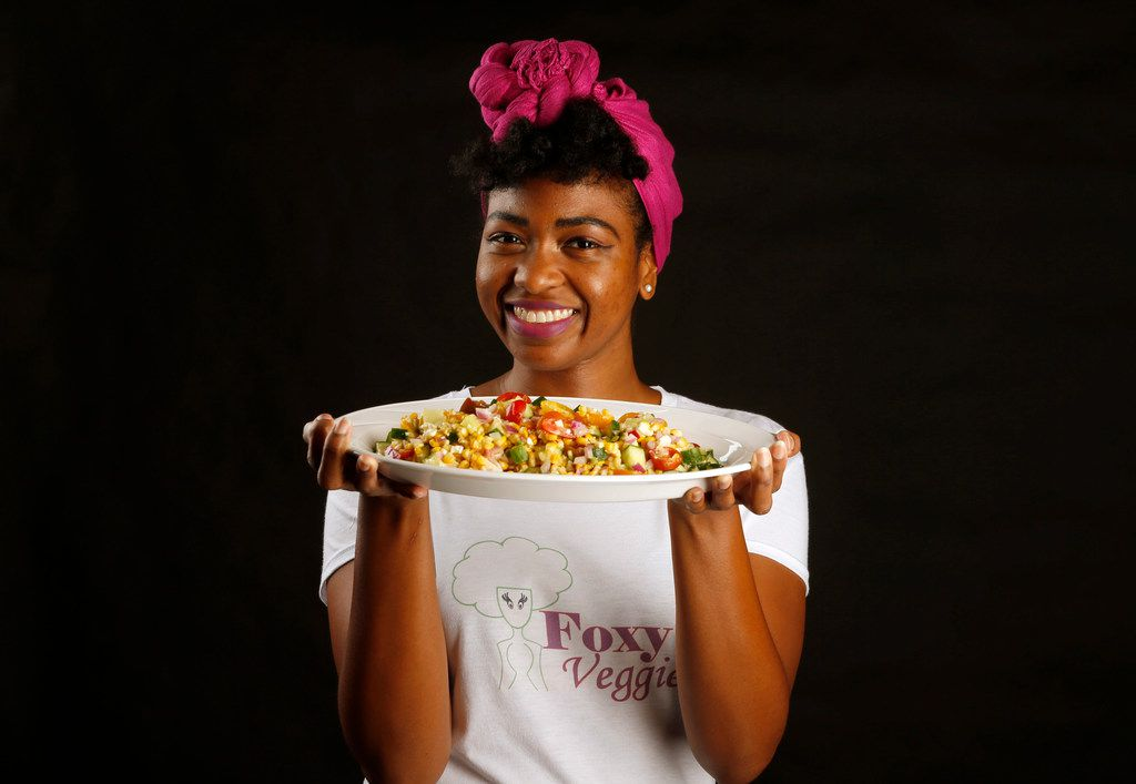 Ashley Douglas, aka Foxy Veggies, loves to make a grilled corn salad for barbecues.