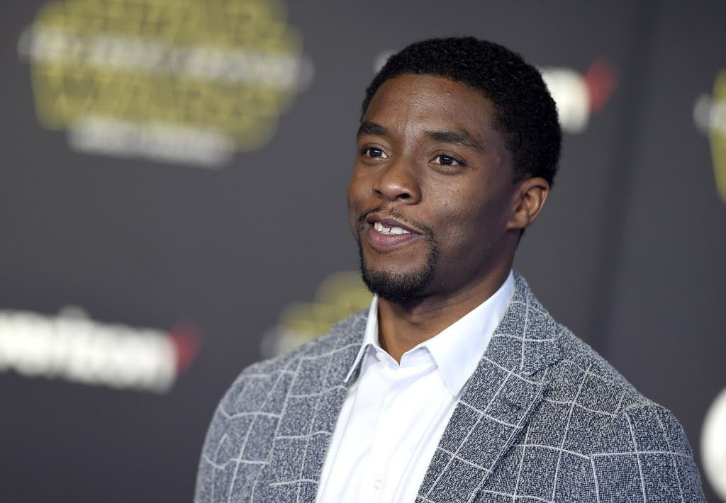 """Chadwick Boseman arrives at the world premiere of """"Star Wars: The Force Awakens"""" at the TCL Chinese Theatre on Monday, Dec. 14, 2015, in Los Angeles."""