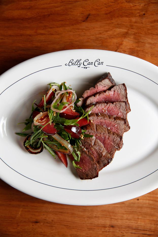 "Restaurateur Tristan Simon and Billy Can Can executive chef Matt Ford think Modern Texas cuisine is one of the best ways to highlight the unique flavors in the Lone Star State. Simon calls the aim of the restaurant ""freewheeling -- but serious on the plate and serious in the glass."" The buffalo tenderloin, pictured here, is one example."