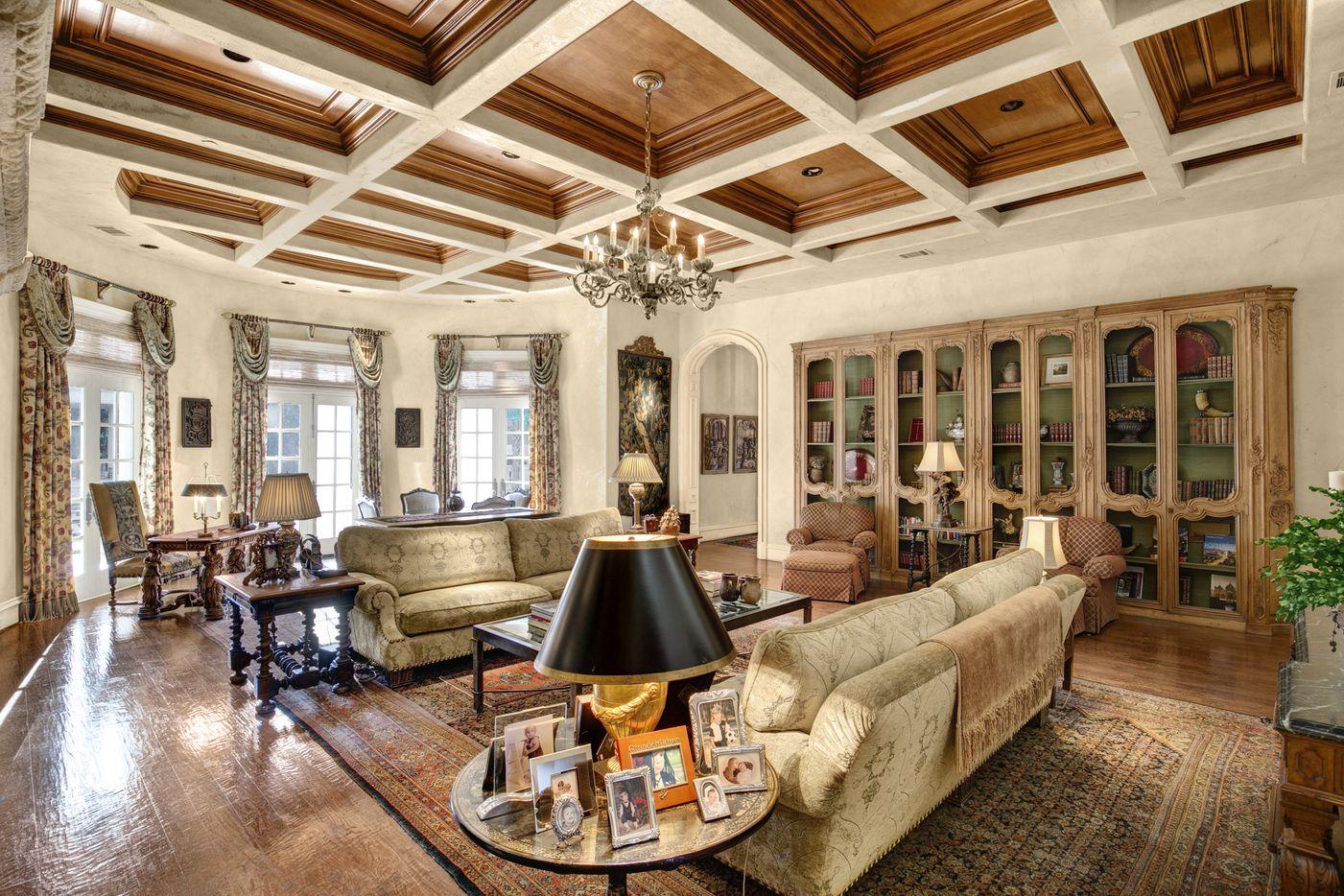 The Strait Lane home has more than 16,000 square feet.