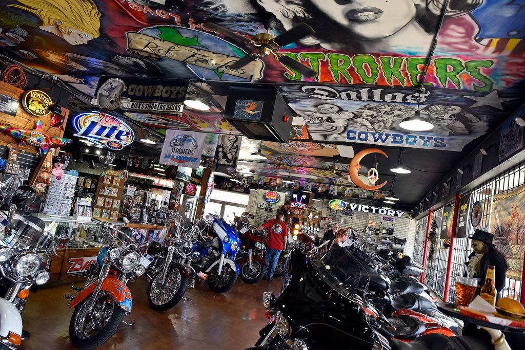 The bike and apparel shop inside Strokers Dallas.
