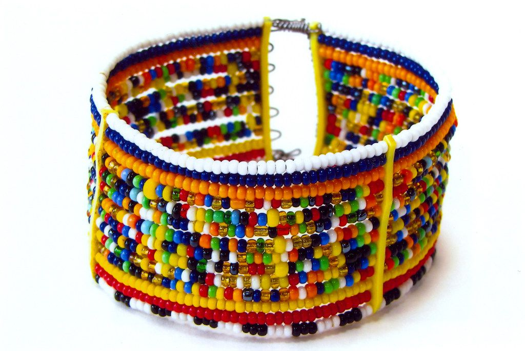 Beaded bracelet by artist Meeri Tuya. The International Folk Art Market in Arlington. The Santa Fe-based event returns to Arlington for its second year in June 2018