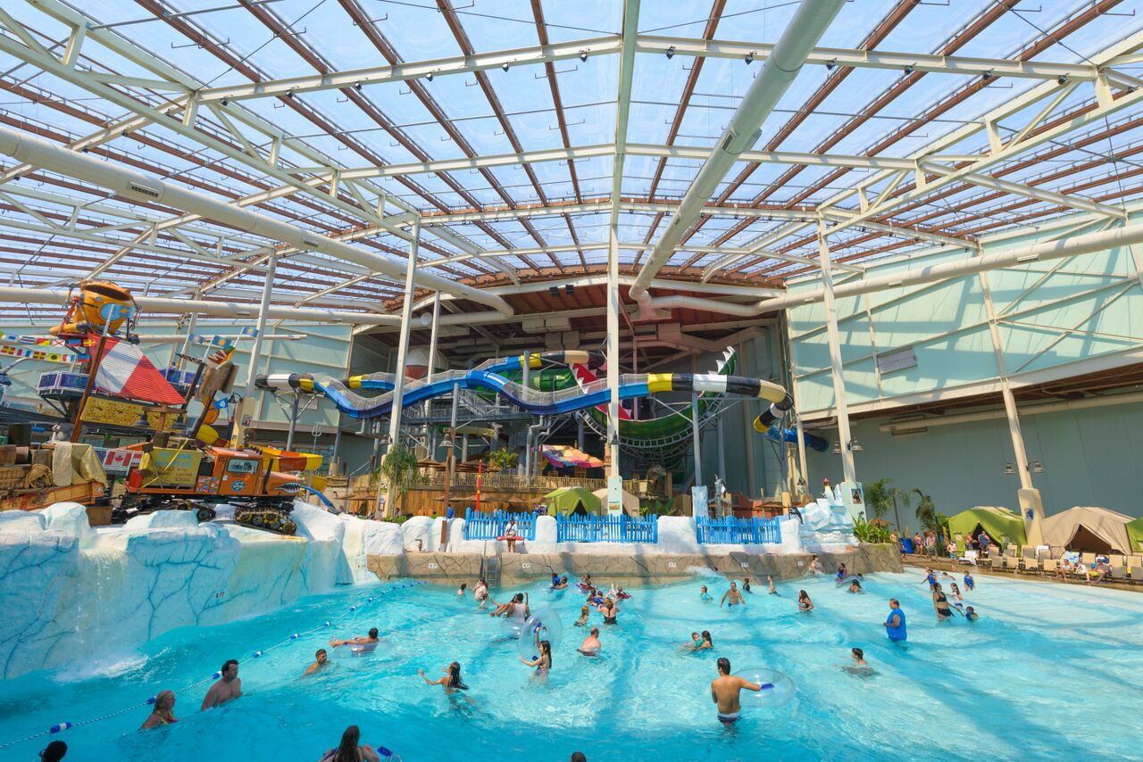 Camelback Lodge & Aquatopia Indoor Waterpark in Pennsylvania's Pocono Mountains was developed by Stand Rock Hospitality, the company behind a new resort planned for Grapevine. Camelback Lodge opened in in May 2015. (Courtesy of Stand Rock Hospitality)