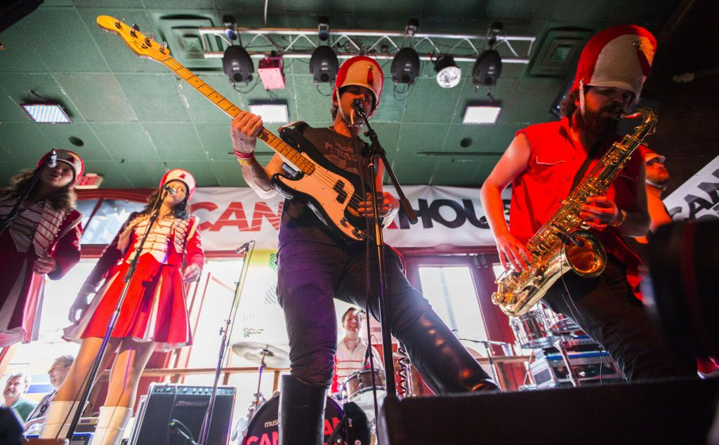 Canadian band Wet Secrets performs at the bar Friends during the SXSW music festival on Thursday in downtown Austin.
