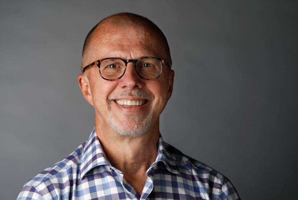 Dallas Morning News Kevin Sherrington in the studio on Sept. 18, 2018. (Irwin Thompson/Staff Photographer)