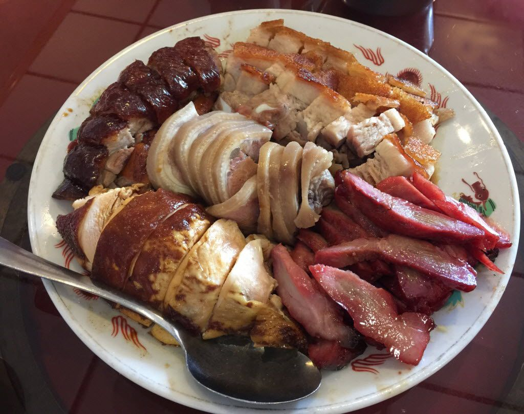 "A platter of assorted barbecue at King Chinese BBQ in Arlington. King is the favorite place for Chinese barbecue of Chih-Ming ""Petey"" Feng, a line cook at FT33 in Dallas."