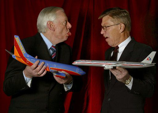 Southwest Airlines founder Herb Kelleher and former American Airlines CEO Bob Crandall.