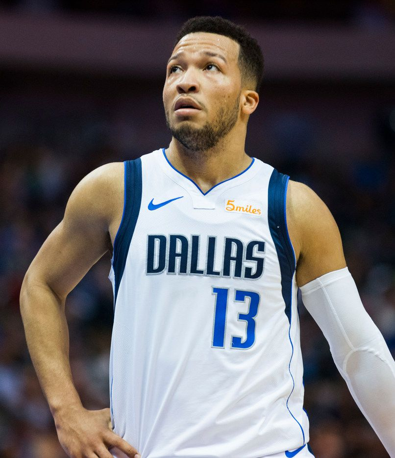Dallas Mavericks guard Jalen Brunson (13) reacts to a call during the third quarter of an NBA game between the Dallas Mavericks and the New Orleans Pelicans on Monday, March 18, 2019 at American Airlines Center in Dallas. (Ashley Landis/The Dallas Morning News)
