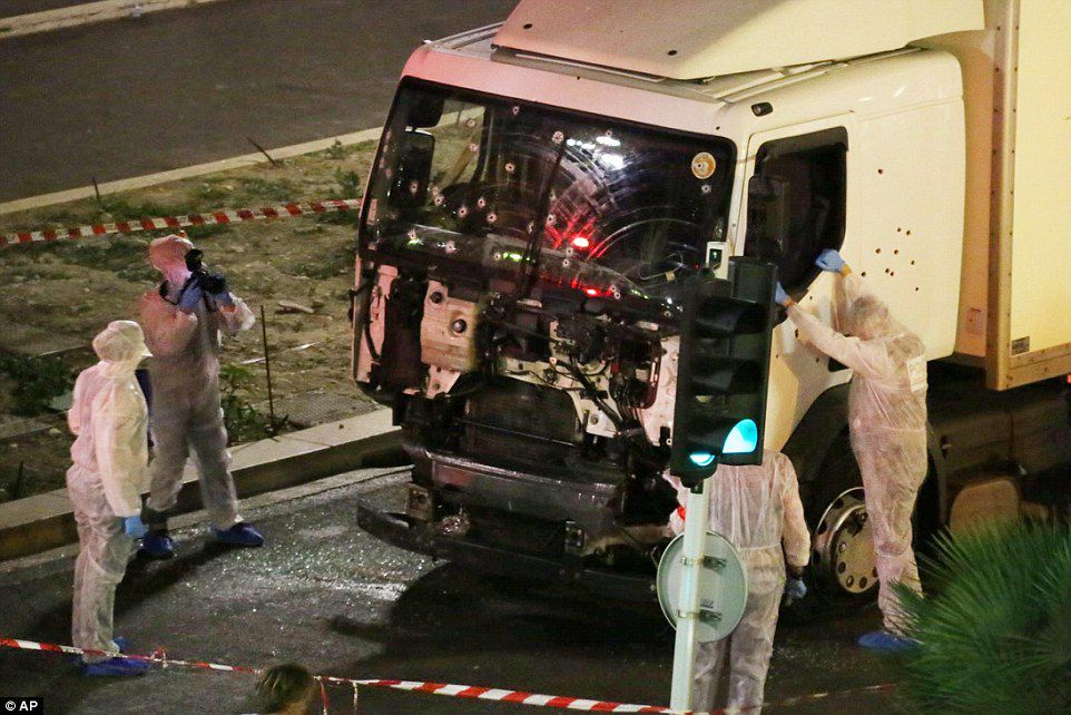 A truck drove into crowds of people celebrating Bastille Day on July 14, 2016, in Nice, France, killing 86 people.