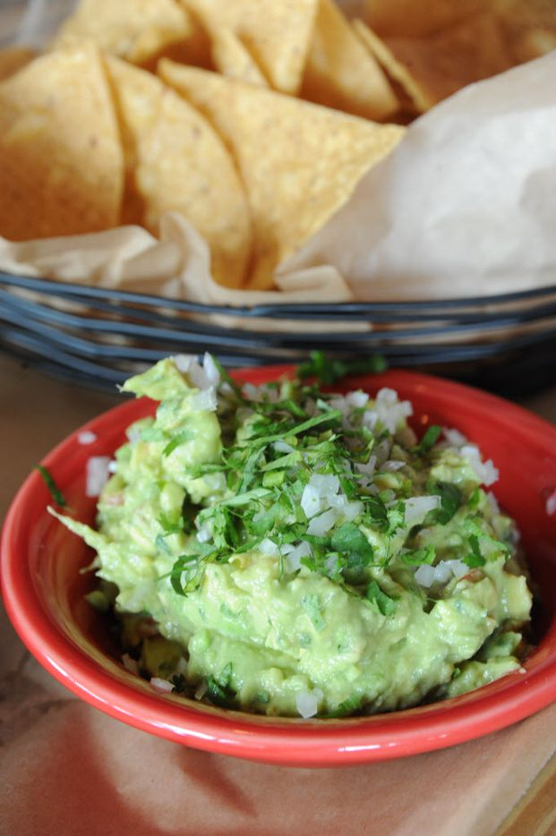 House made chips and guacamole is served at La Ventana in Addison, TX on May 7, 2015. (Alexandra Olivia/ Special Contributor)