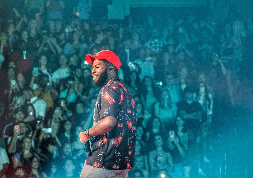 Khalid performs at American Airlines Center in Dallas, TX on Sunday July 14, 2019. (Lawrence Jenkins/Special Contributor)