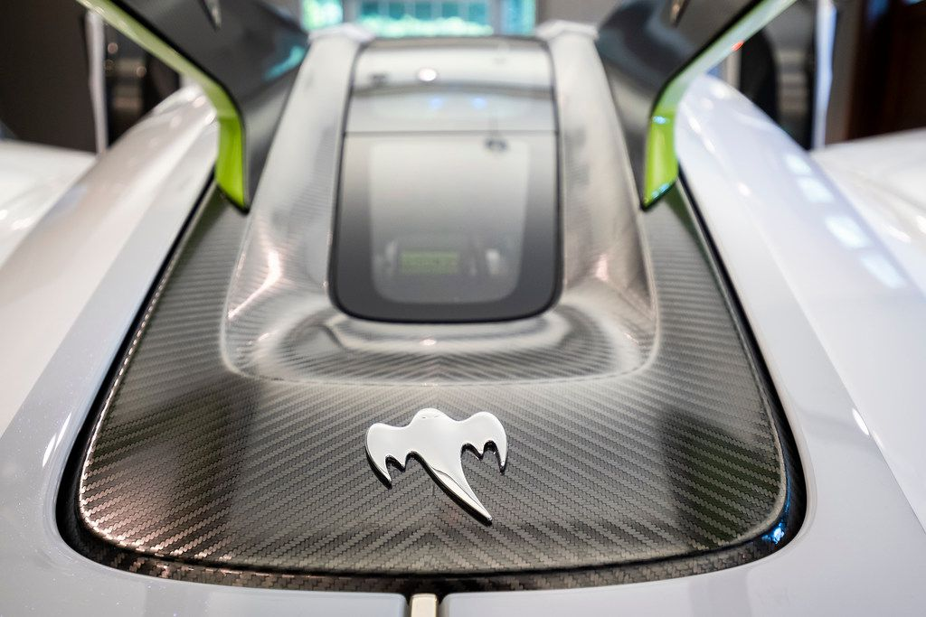 The Ghost badge at the back of the Koenigsegg Jesko.