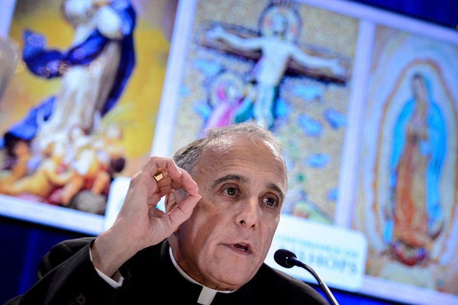 Galveston-Houston Archbishop Daniel DiNardo, president of the U.S. Conference of Catholic Bishops, spoke during a press conference Monday in Baltimore.
